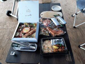 ソラテラス長野グランピングの夕食