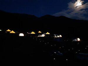 ソラテラス長野グランピングの夜景