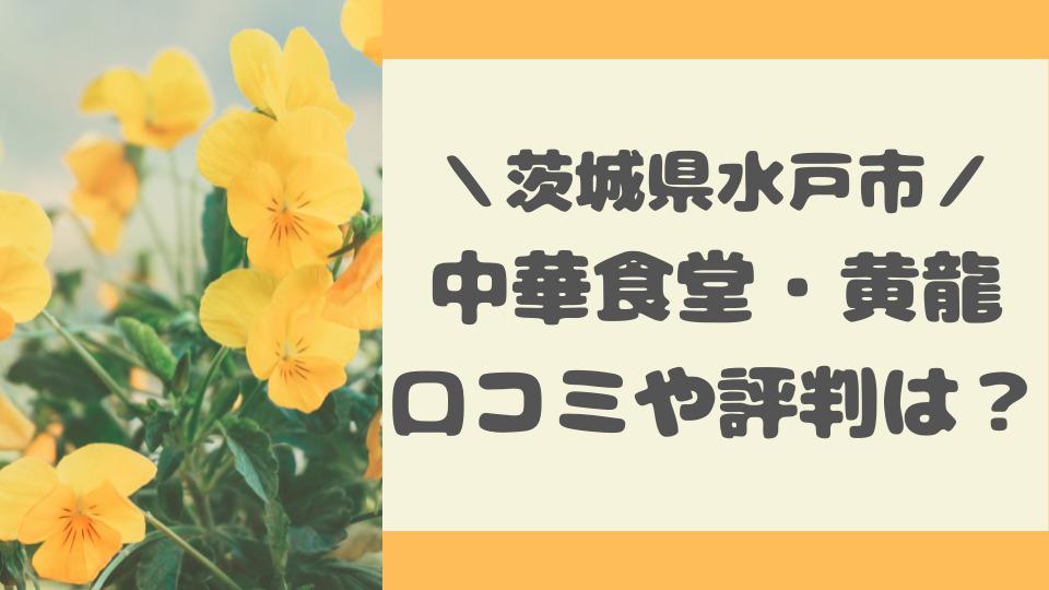 オモウマイ店|水戸市の中華食堂・黄龍の口コミ評判