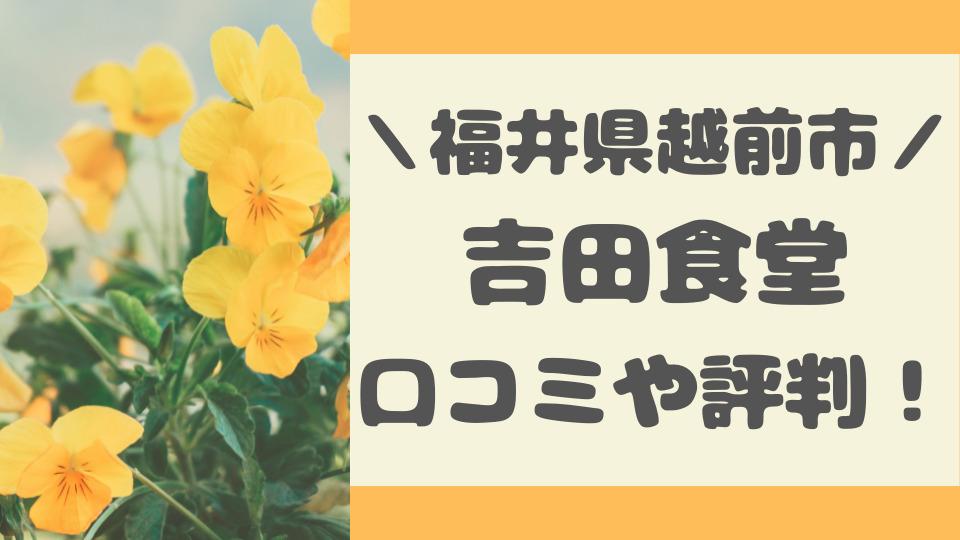 オモウマイ店福井県越前市の吉田食堂の口コミ評判
